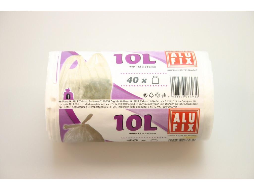 Vrecia na odpad 10L/40ks biele