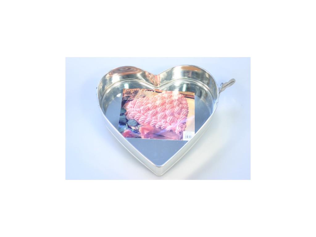 Forma na tortu s dvoma sponami - srdce