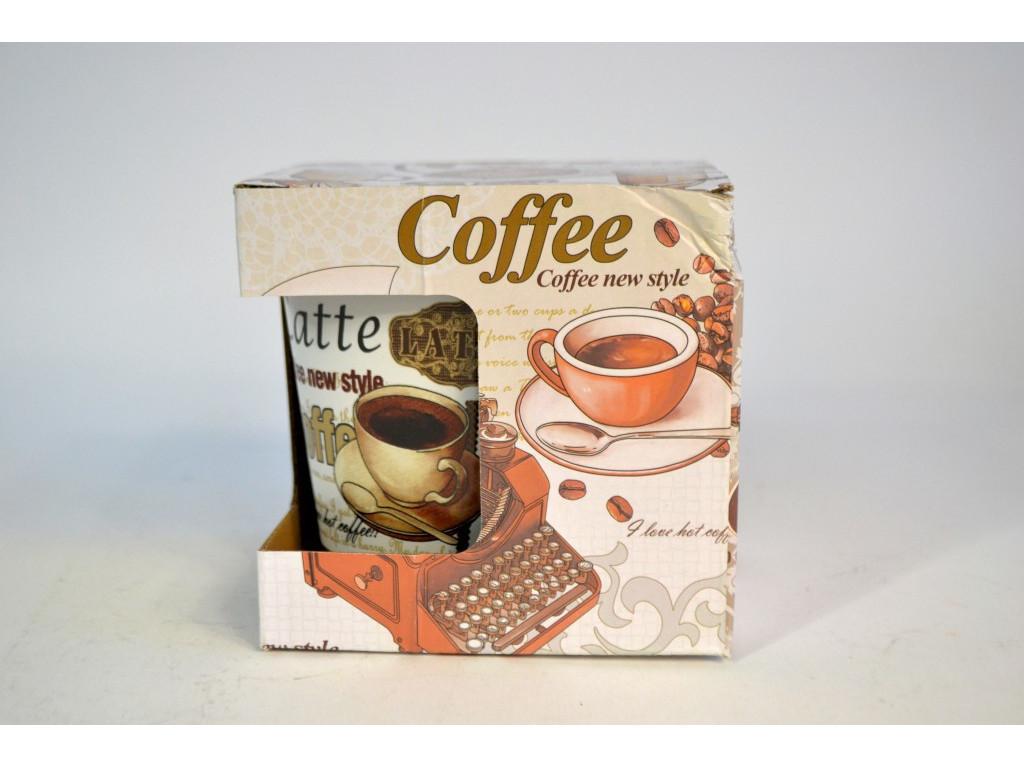 Hrnček + lyžička na kávu 330ml