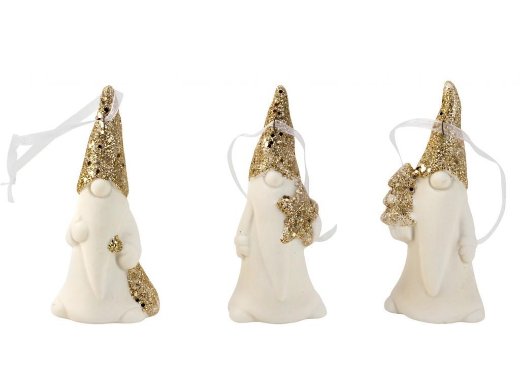 Santa 8,7cm zlaté trblietky