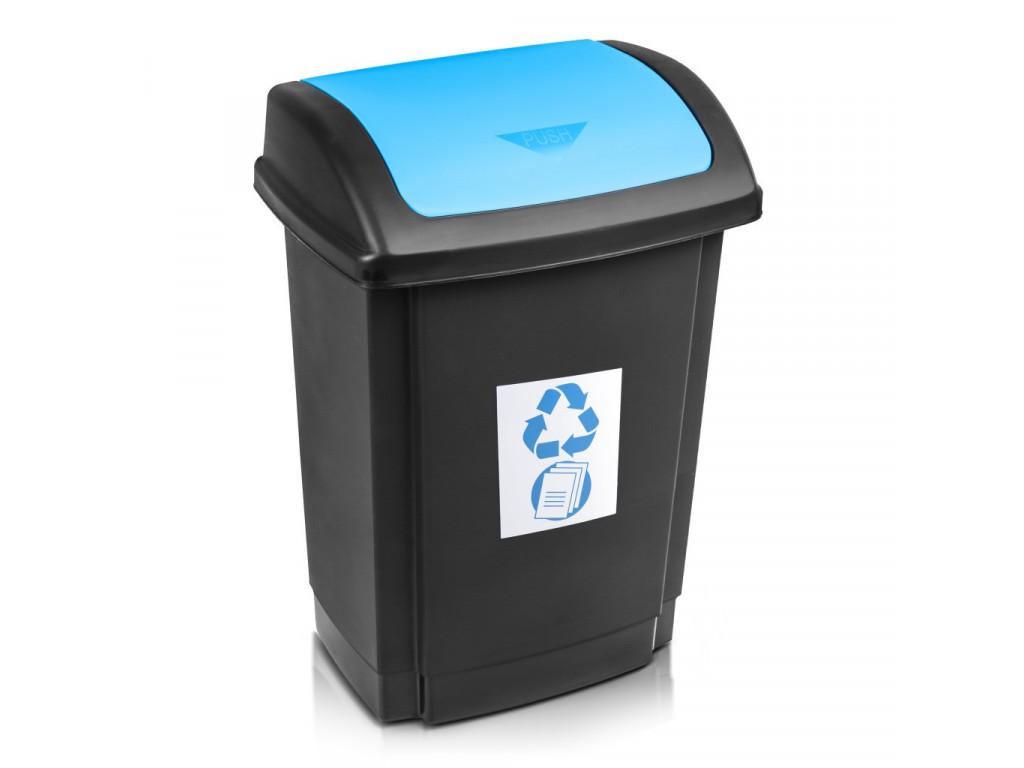 Kôš na odpad recykl. 25l modrý