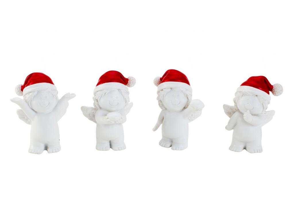 Anjel s červenou čiapkou 6cm